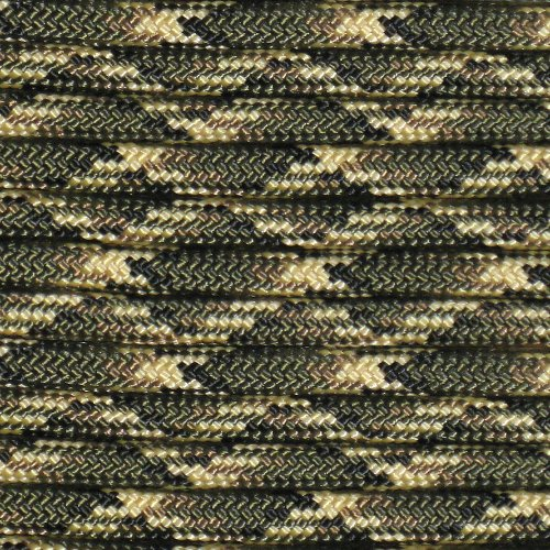 Deepwoods 100' + 25 Buckles Paracord Hero 10' 20' 50' 100' Hanks Parachute 550 Cord Type III 7 Strand Paracord - Largest Paracord Selection