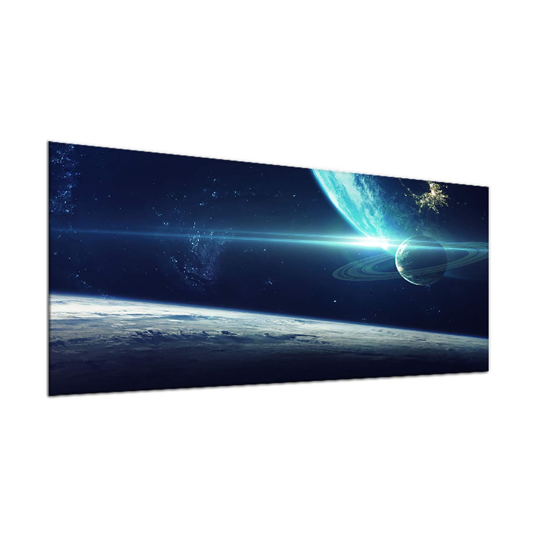 decorwelt   Ceranfeldabdeckung 90x52 cm 1 Teilig Natur Blau Herdabdeckplatten Spritzschutz Glas Deko Elektroherd Induktion Herdschutz Glasplatte Schneidebrett Sicherheitsglas