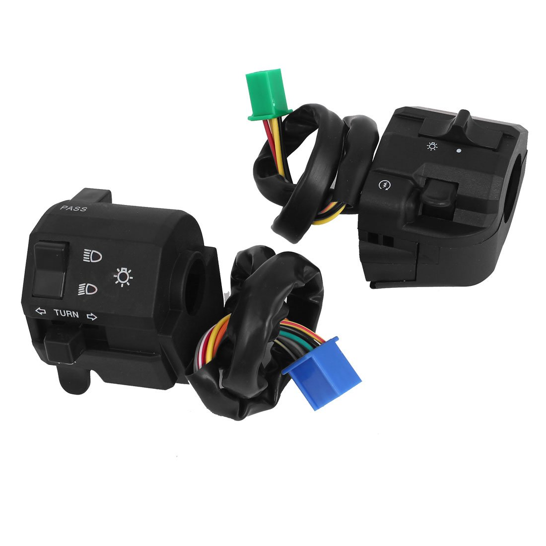 uxcell Scooter Motorcycle Handlebar Turn Signal Light Switch Controller Set