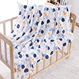 Baby Sleeping Blanket Newborn Girl Cotton Quilt Infant Boy Large Foldable Towel Soft Cot Sheet Unisex Cartoon Breathable Washable Wrap Swaddles for Crib Pram Cradle Bed Stroller Nursing Cover Kerchief