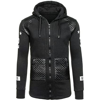 Chaquetas Hombre Amlaiworld Sudadera con capucha caliente de invierno de hombres Camisas Blusa abrigo chaqueta Outwear