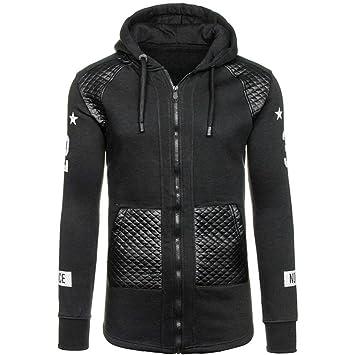Chaquetas Hombre Amlaiworld Sudadera con capucha caliente de invierno de hombres Camisas Blusa abrigo chaqueta Outwear suéter Abrigo con cremallera: ...