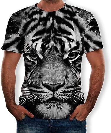 RKWEI - Camiseta de manga corta para hombre, diseño de tigre ...