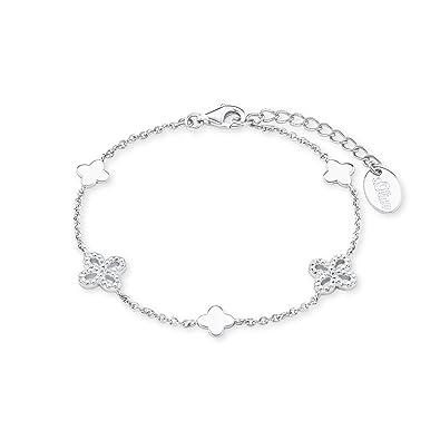 Oliver Damen-Armband 17+3 cm Blume 925 Silber rhodiniert Zirkonia weiß 20  cm 2015168  Amazon.de  Schmuck 0264f74606