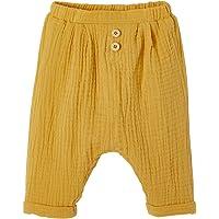 VERTBAUDET Pantalón corte árabe de gasa de algodón bebé niño BEIGE MEDIO LISO 3M-60CM