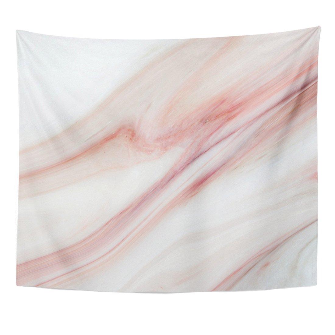 amazon com emvency tapestry pink floor brown marble pattern