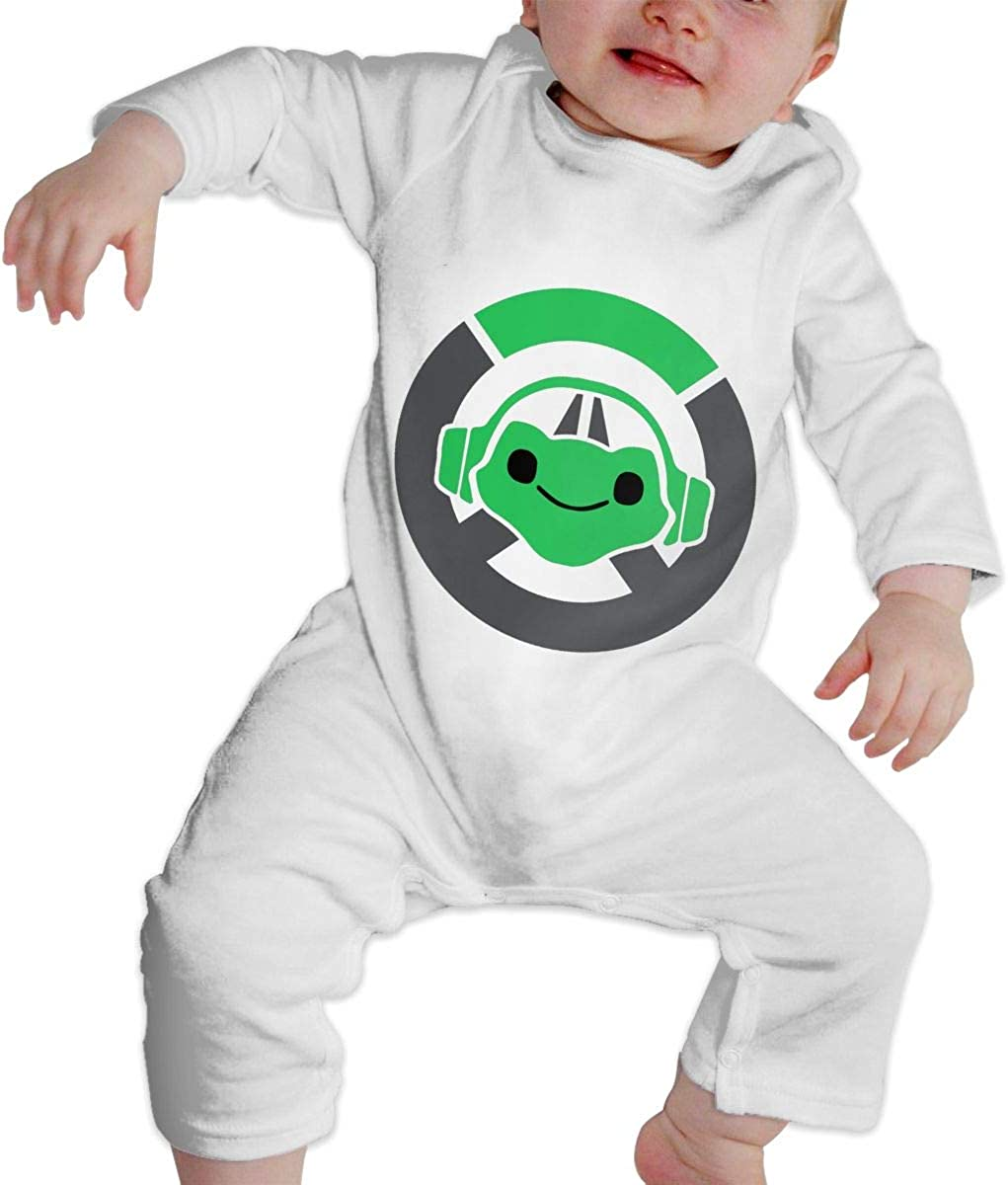 Unisex Cotton Creeper Outfit for 0-24 Months Lucio Overwatch Video Game Long Sleeve Pajamas Bodysuit Onesie