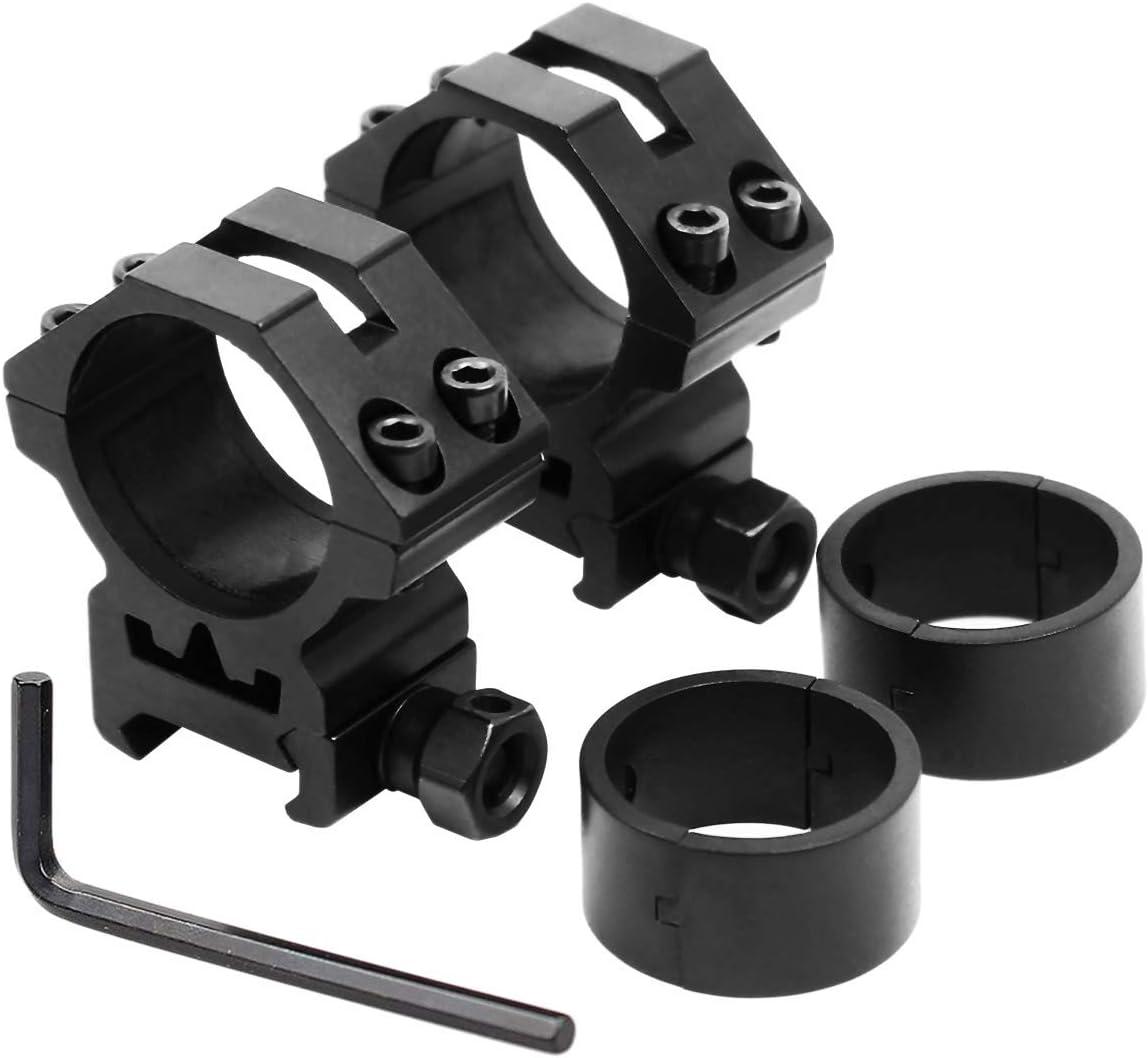 2pcs 1 INCH //30mm Rifle Scope Rings Aluminum Picatinny Low Medium High Profile