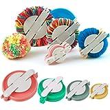 Accmart 4 Sizes Pom-pom Maker for Fluff Ball DIY Wool Knitting Craft Tool Set