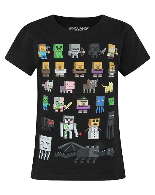 e3bfe40067a4e Minecraft Sprites Girl's T-Shirt: Amazon.co.uk: Clothing