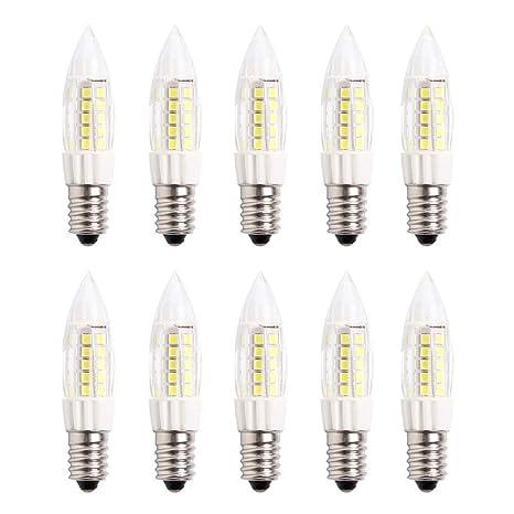 E14 Pequeño LED Bulbo 5W Bombillas Nevera -Non Dimmable 6000K ...