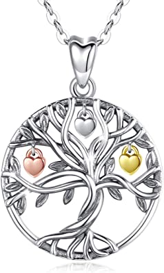 High Quality 925 Sterling Silver Tree of Life Pendant Necklace Eye Catching Sterling Silver Necklace Great Love Gift