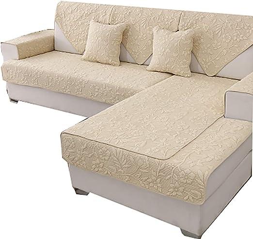DFamily Antideslizante Protector de sofá Muebles Estilo Europeo Funda de sofá Color sólido Algodón Funda Cubre sofá Seccional Protector de sofá Muebles-J 70x150cm(28x59inch)(1 Pieza): Amazon.es: Hogar