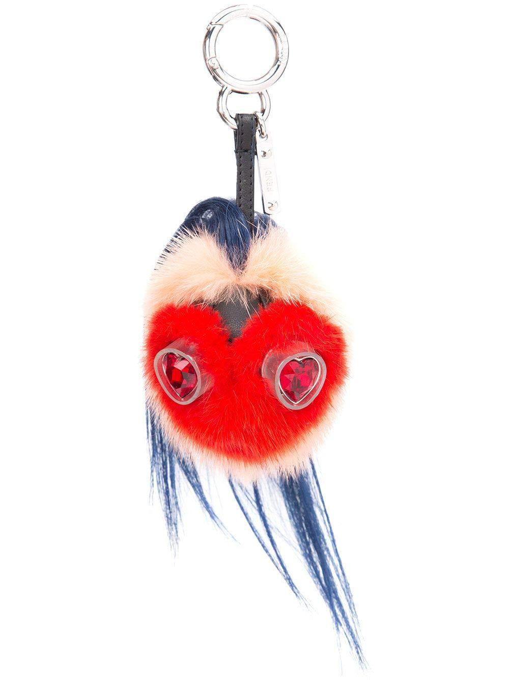 Fendi Women's 7Ar466slvf07au-Mcf Red Leather Key Chain
