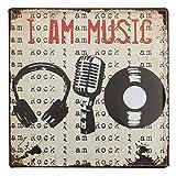 Music Tin Sign Vintage Metal Plaque Poster Bar Pub Home Wall Decor