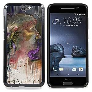 """Planetar ( Pintura de Orange Blue Lagoon"""" ) HTC One A9 Fundas Cover Cubre Hard Case Cover"""
