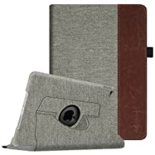 Fintie iPad Air 2 Case - 360 Degree Rotating Stand Case with Smart Cover Auto Sleep / Wake Feature for Apple iPad Air 2 (iPad 6) 2014 Model, Denim Grey