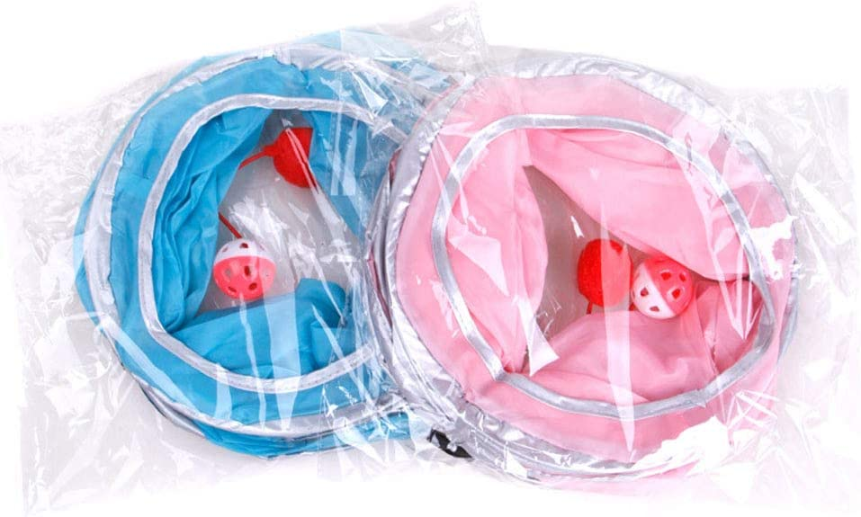 Tancurry Cat Hidden Toy Cat Tunnel with Ball Foldable Cat Toy Training
