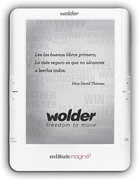 Wolder miBuk Imagine - Lector eBook - 4 GB - 6