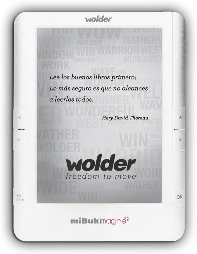 Wolder miBuk Imagine - Lector eBook - 4 GB - 6