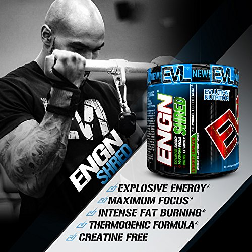 Evlution-Nutrition-ENGN-SHRED-Pre-workout-Thermogenic-Fat-Burner-Powder-Energy-Weight-loss-30-Servings-Cherry-Limeade