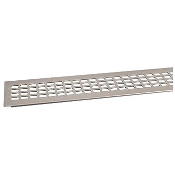 Breite 100 mm Lüftungsgitter Länge 600 mm Aluminium natur eloxiert