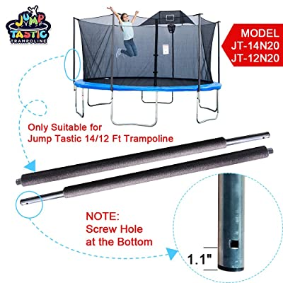 Trampoline Replacement Bottom Pole for Jumptastic Trampoline Enclosure/Set of 2 : Sports & Outdoors