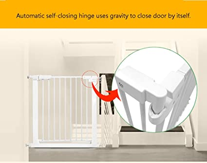 Metal Baby Gate Indoor Stairs Auto Close Extra Wide Pressure Fit