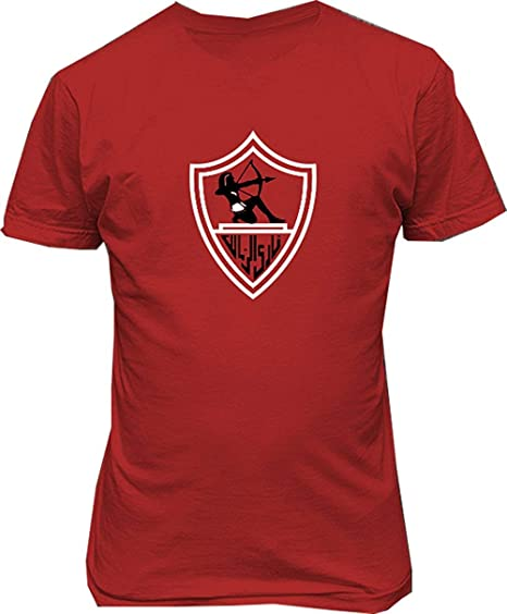 6cef8d2d1 Image Unavailable. Image not available for. Color  Soft-T El Zamalek  Sporting Club Egypt Soccer Football Mens Custom Design Tee Shirts