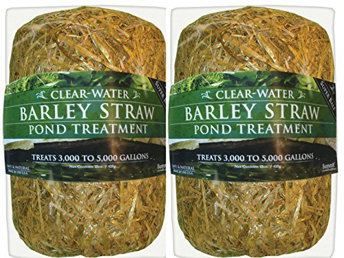 (Summit 135 Clear-Water Barley Straw Bale 15 oz, Treats up to 5000-Gallons (2 Pack))