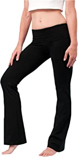 product image for Hard Tail Foldover Bootcut Yoga Pants - Black