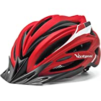 VICTGOAL Adults Bike Helmet for Men Women Bicycle Helmet with Visor LED Taillight Mountain Road Bike Lightweight Cycling…