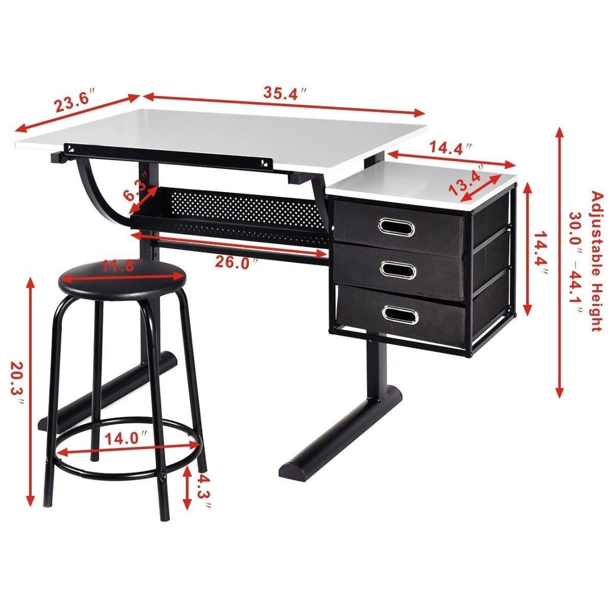 Fantastic Tangkula Drafting Table Art Craft Drawing Desk Art Hobby Creativecarmelina Interior Chair Design Creativecarmelinacom