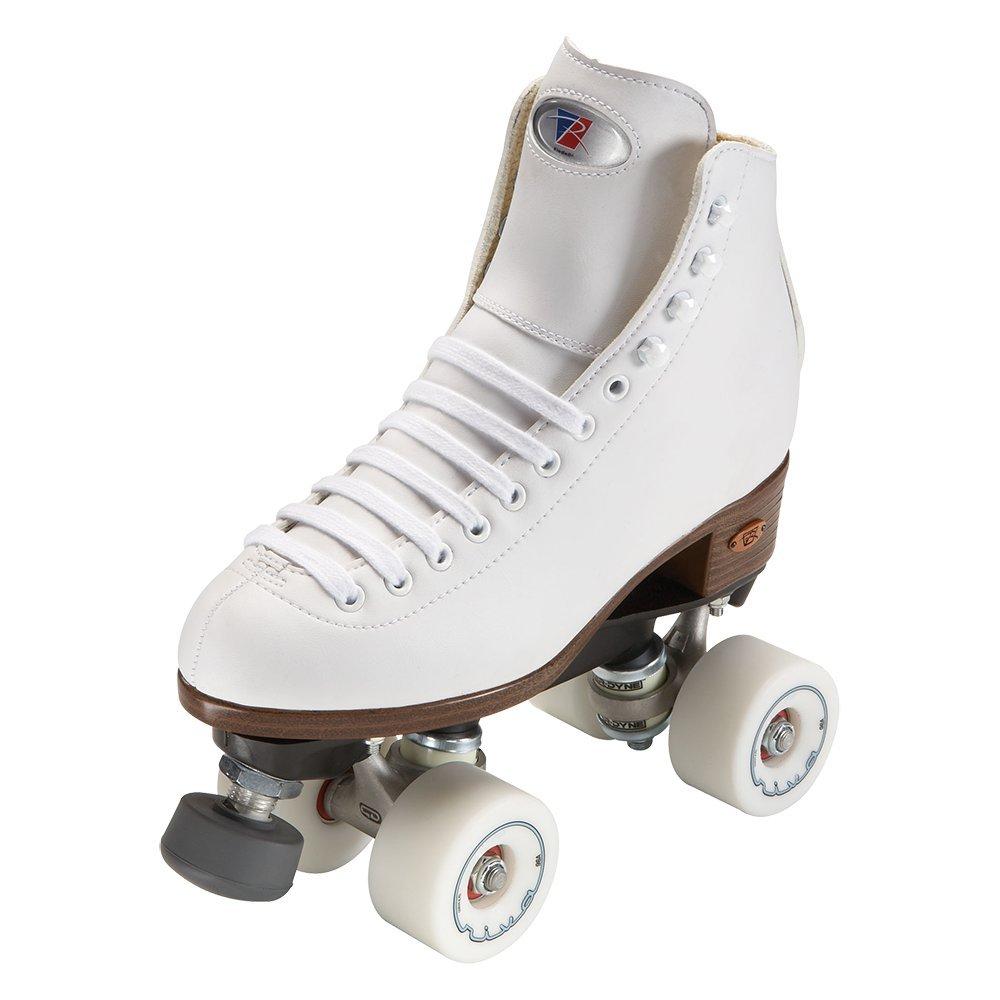 Riedell Skates - Angel - Artistic Quad Roller Skate | White | Size 4 |