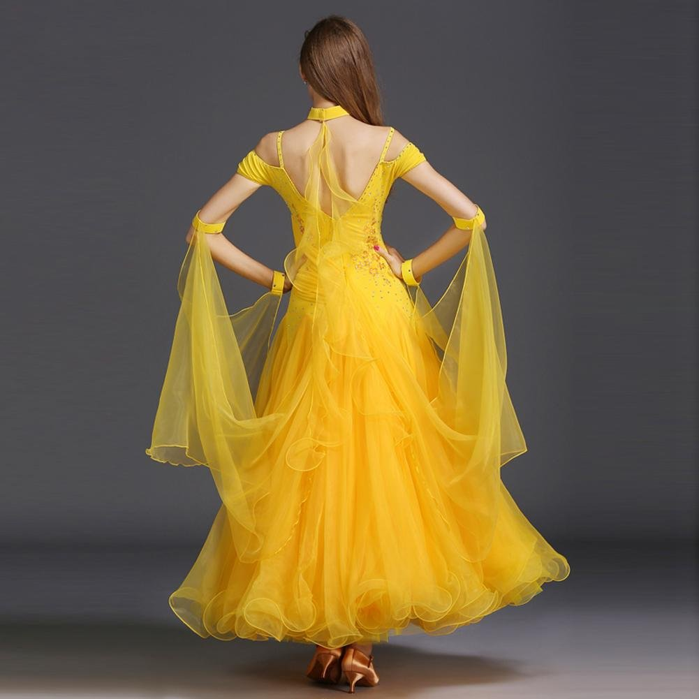 Frauen Große Schaukel Gesellschaftstanz Kleider Ärmellos Tüll Tüll Tüll Moderner Tanz Performance Kostüm B07876MB7P Bekleidung Modernes Design 1cf9c1