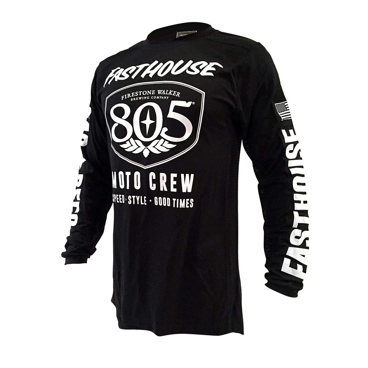 830c4e175 Amazon.com  Fasthouse 805 Shield Air Cooled Men s Motocross Motorcycle  Jersey Black  Clothing