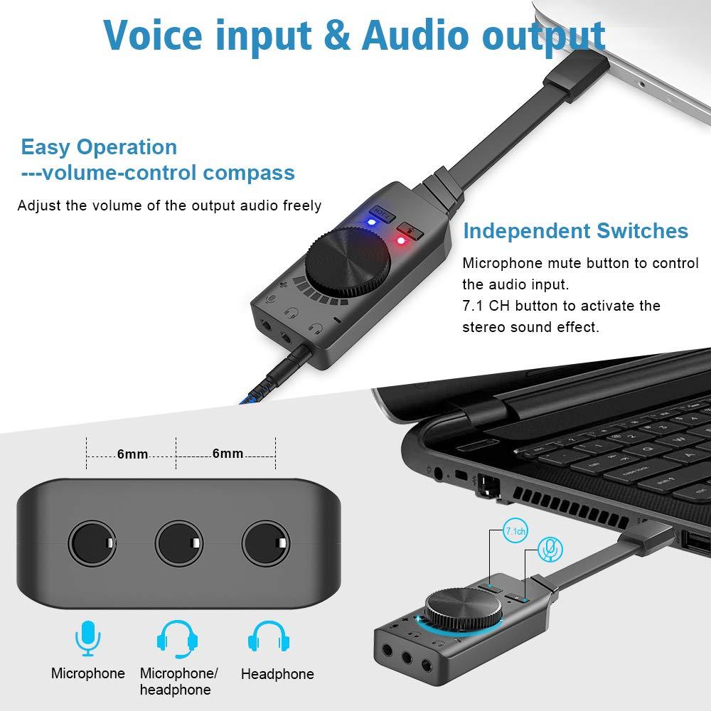 Amazon.com: Adaptador de tarjeta de sonido BENGOO Virtual ...
