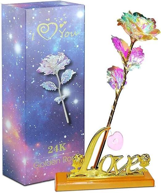 Galaxy Rose mit Liebe Basis ewige Kristall Muttertag Geschenk die beste Wahl