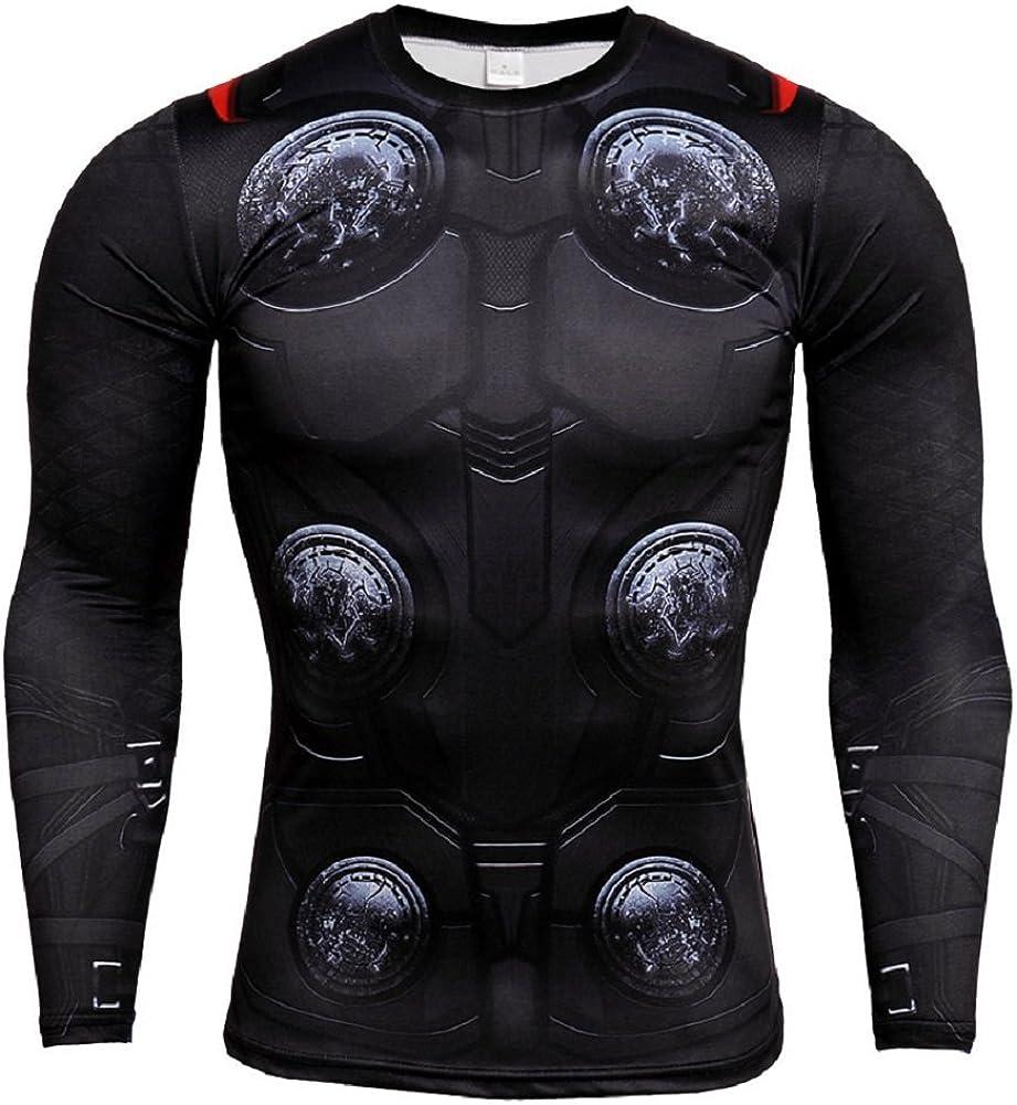 Cosfunmax Thanos Shirt Super Hero Compression Sports Shirt Mens Fitness Tee Gym Tank Top XXL