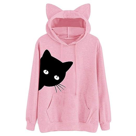 MODEOR Ladies Hoodie Pullover Hooded Womens Sweatshirts