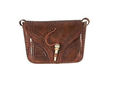 6e9737ca9 Image Unavailable. Image not available for. Colour: Vida Vida Genuine  Handmade Vintage Leather Satchel Handbag ...