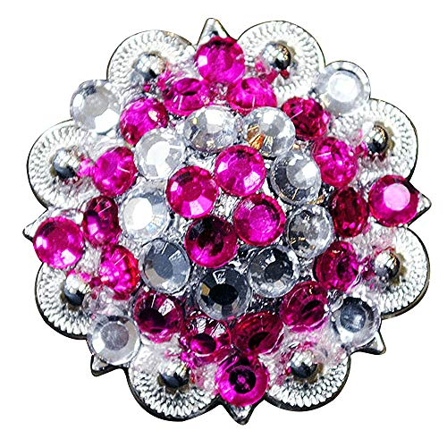 af76882a75983 HILASON Set of 4 Western Berry Conchos Glass Rhinestones Bling 1.5