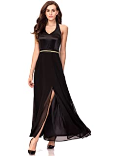 ee38df2062 Noctflos Chiffon Elegant Maxi Cocktail Evening Dress for Women Party Wedding