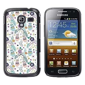 Navidad mitones de Navidad Vacaciones Trullo - Metal de aluminio y de plástico duro Caja del teléfono - Negro - Samsung Galaxy Ace 2