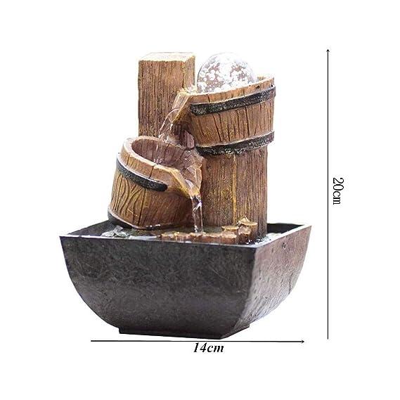 Lcxligang Fuente de Agua de Mesa - Creative New Stone Mill Inicio ...