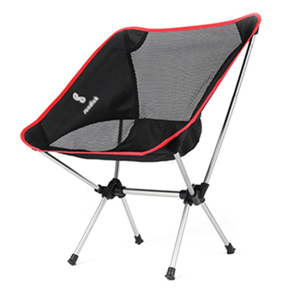 ZGL 旅行椅子 折りたたみ椅子超軽量背もたれの椅子アルミニウム合金釣りのスツール屋外スケッチの椅子ポータブルディレクターズチェア (色 : 赤) B07DC7HLDL 赤 赤