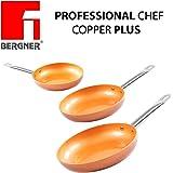 Original Chef Copper Plus - Juego 3 sartenes de cobre súper ...
