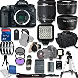Canon EOS 7D Mark II DSLR Camera with W-E1 Wi-Fi Adapter with Canon EF-S 18-55mm f/3.5-5.6 IS STM Lens + 32GB SD Memory Card + Accessory Bundle - International Version