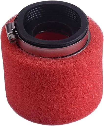 58mm Double Foam Straight Luftfilter Fit f/ür ATV Quad Mini Dirt Bike Motorrad Roller