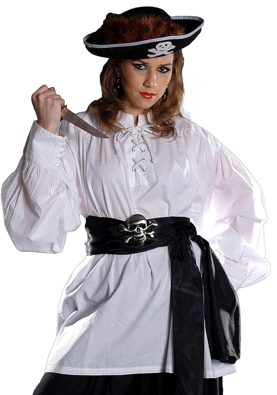 ThePirateDressing C1010 Hemd, Pirat, Mittelalter, Renaissance, Grace Malley Poet, Weiß